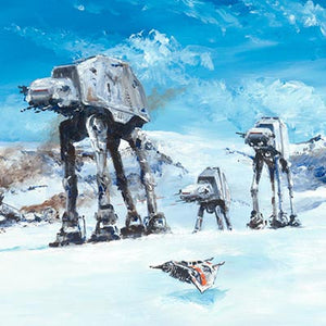 Imperial Walkers on the North Ridge by Kim Gromoll | Star Wars