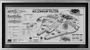 Millennium Falcon SpecPlate | Star Wars frame