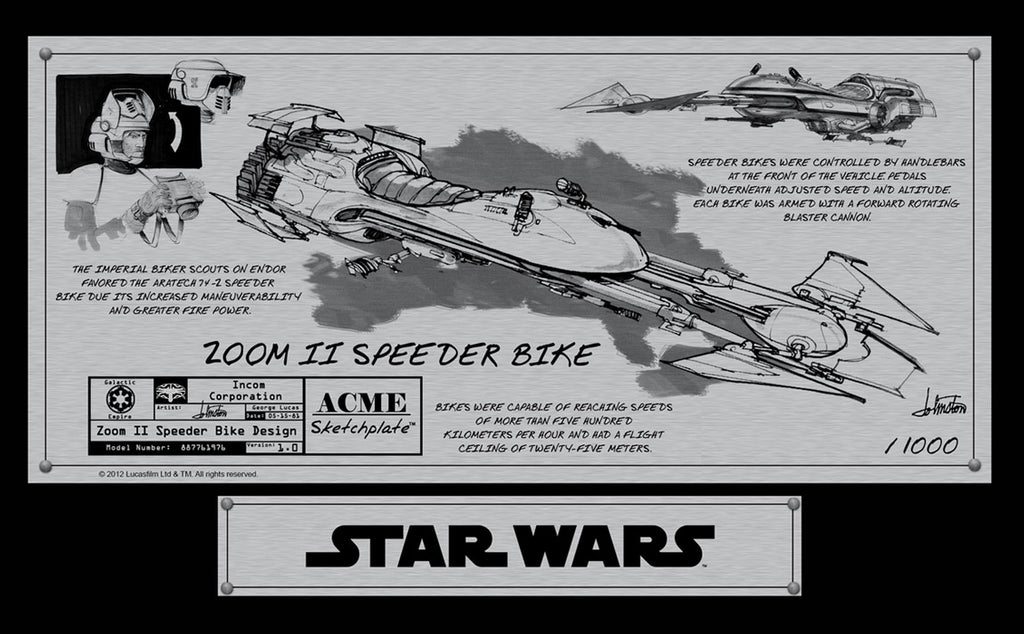 Speeder Bike Sketchplate | Star Wars