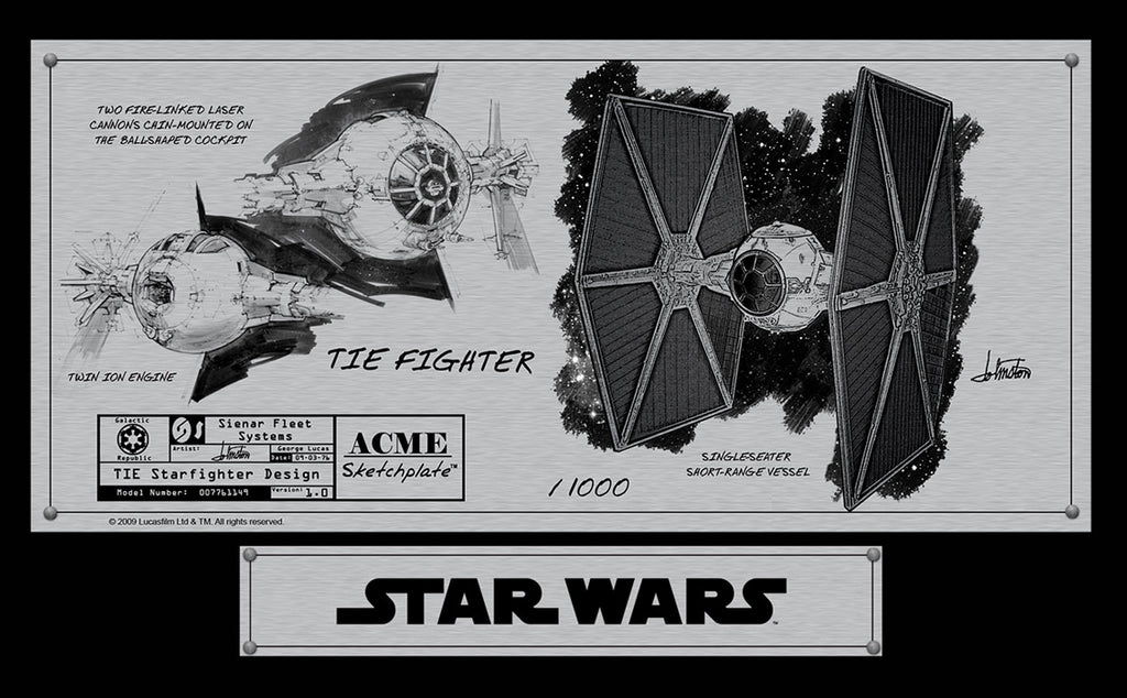 TIE Fighter Sketchplate | Star Wars