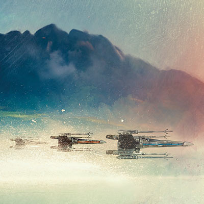 X-Wings at Twilight by Rich Davies | Star Wars