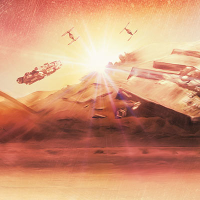 Dogfight at Sunset by Rich Davies | Star Wars