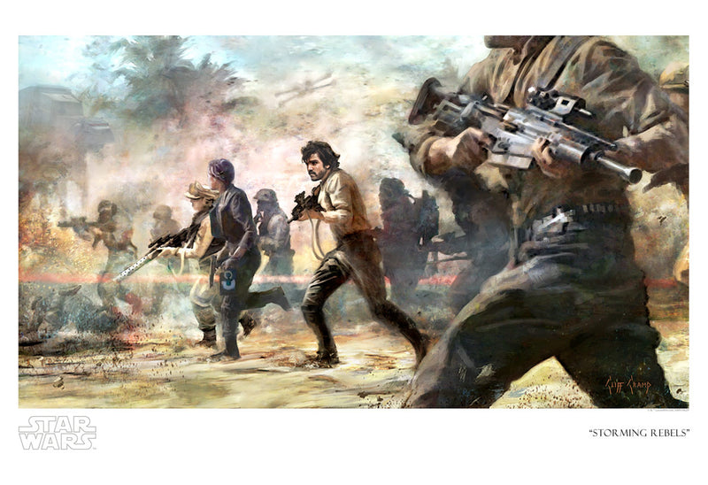Storming Rebels by Cliff Cramp | Star Wars canvas