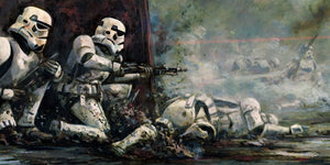 Pinned Down by Cliff Cramp | Star Wars canvas
