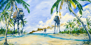 AT-ACT on the Shore by Kim Gromoll | Star Wars