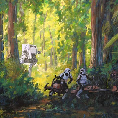 Imperial Scout Troopers by Cliff Cramp | Star Wars
