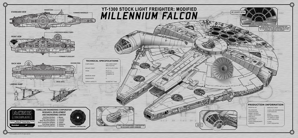 Millennium Falcon Techplate | Star Wars