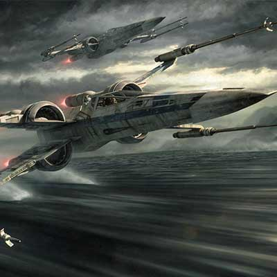 Incom T-70 Tearin' It Up by Jerry Vanderstelt | Star Wars