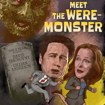 Mulder & Scully Meet the Were-Monster by J.J. Lendl | The X-Files thumb