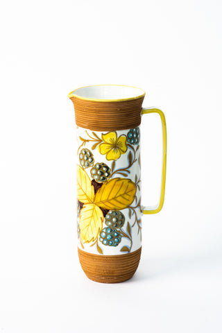 Decorative ceramic pitcher