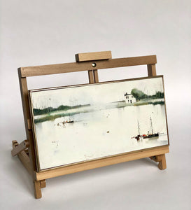 Fishing village painting