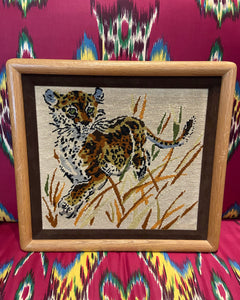 Big cat embroidery