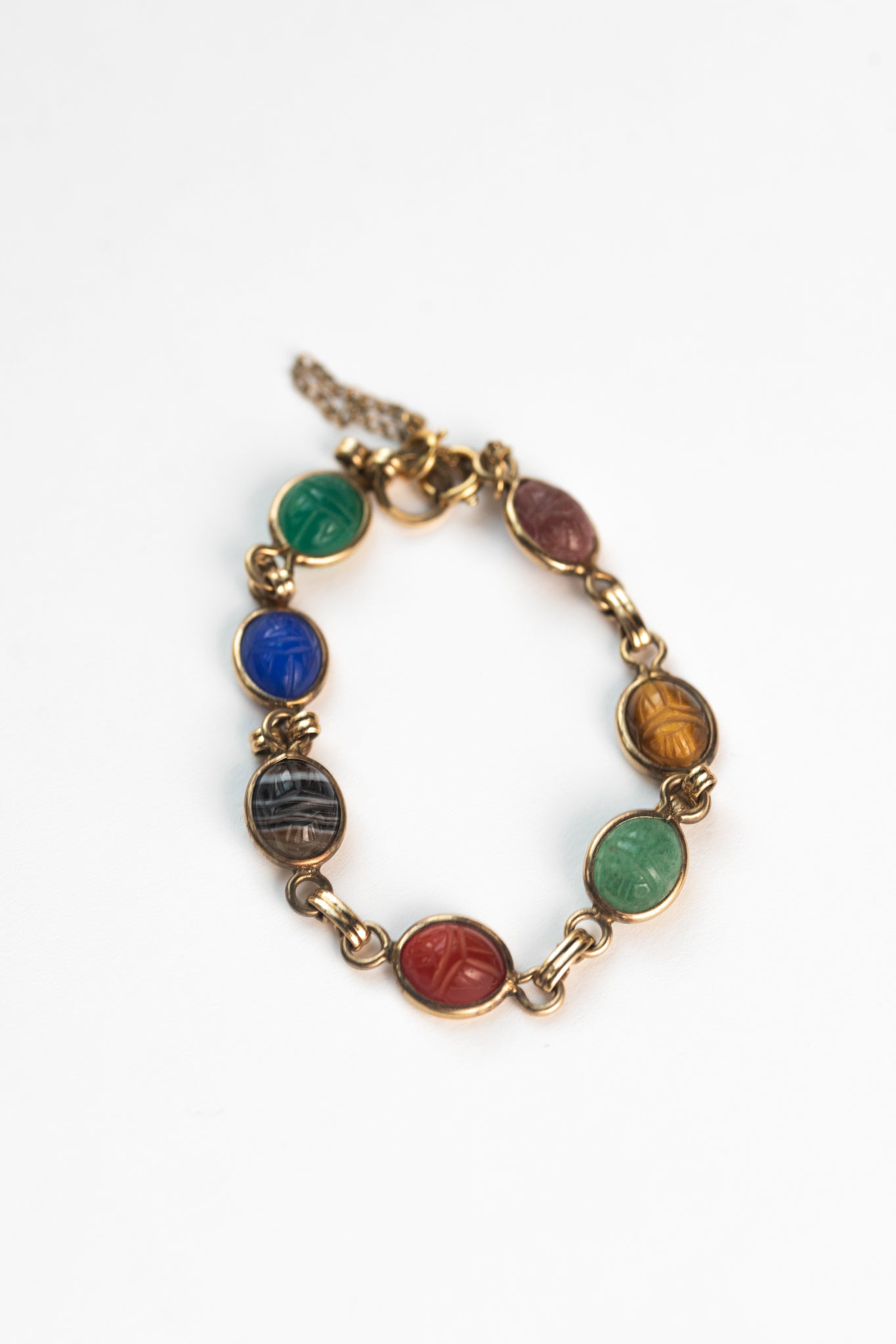 Gold-filled Scarab Bracelet