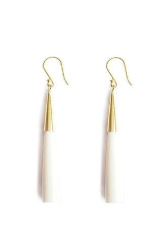 SOKO Capped Pia Earrings in White