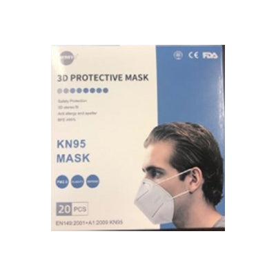 20 Pack of KN95 3D Protective Masks, available at Mallory Paint Store in WA & ID.