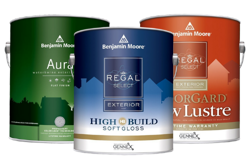 Shop a slection of Benjamin Moore paint for any exterior painting project at Mallory Paint Store in Washington & Idaho