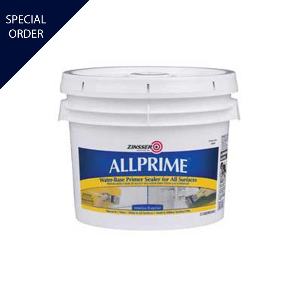 2.5 Gallon of Allprime Interior & Exterior Primer, available at Mallory Paint in WA & ID.