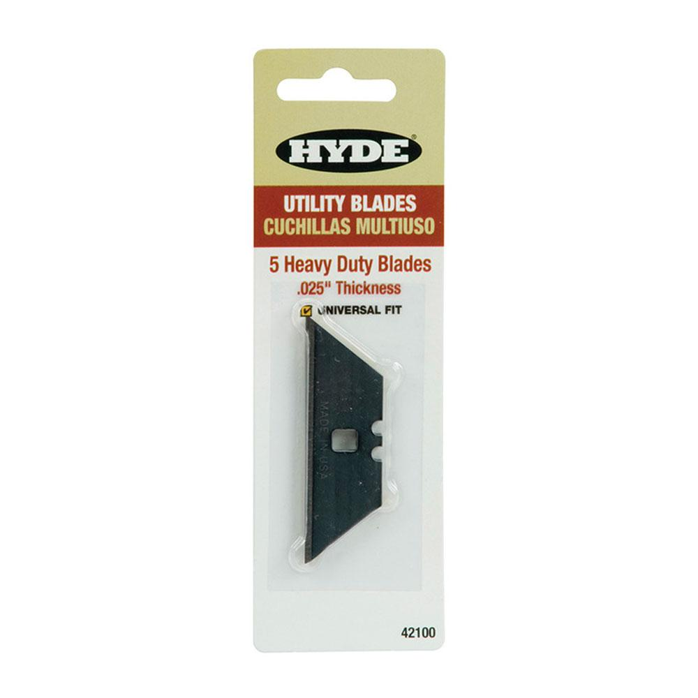 5pk Hyde HD Utility Knife Blades, available at Mallory Paint Stores in Washington State and Idaho.
