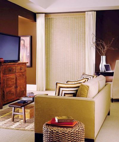 Hunter Douglas Window Treatments vertical solutions living room