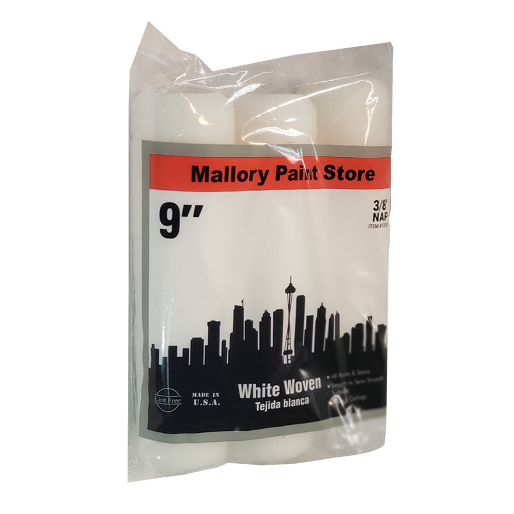 White Woven paint rollers 3 pack, available at Mallory Paint Stores in Washington State and Idaho.