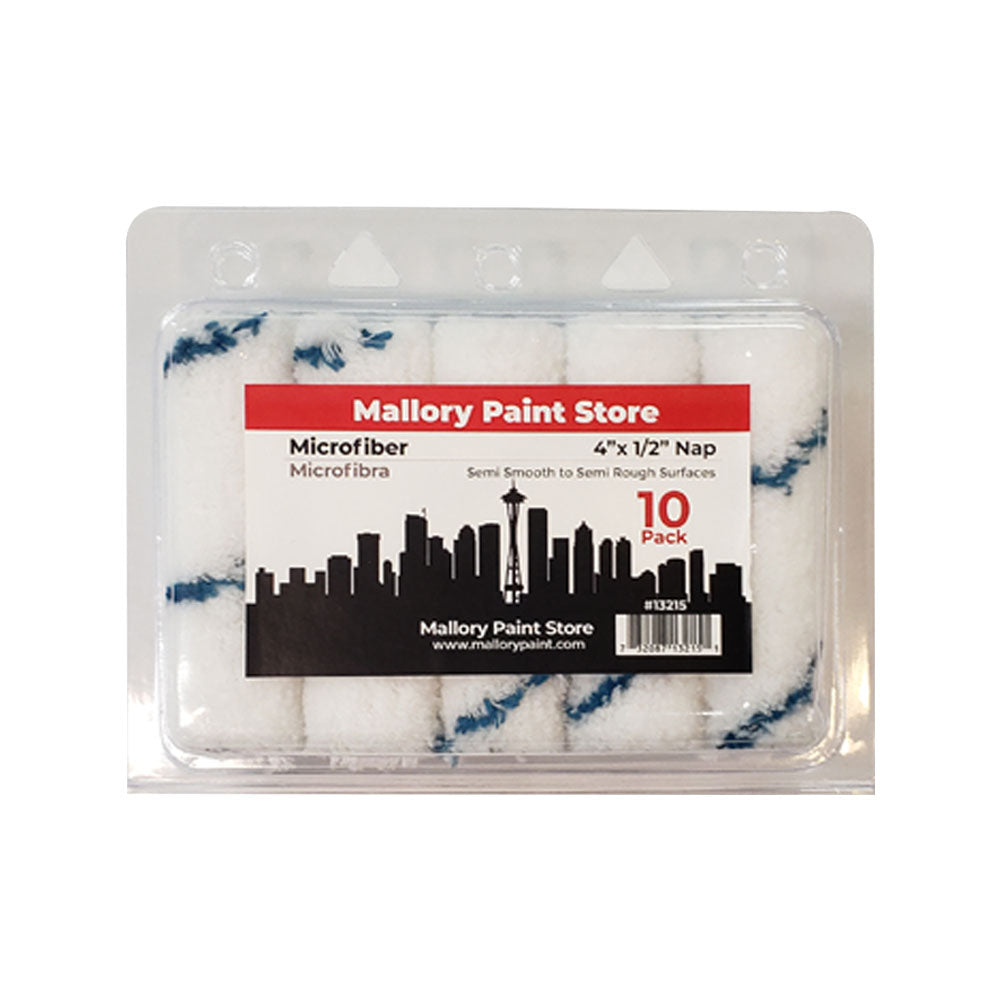10pk Mallory Paint Store Microfiber Rollers available at Mallory Paint Store, Washington and Idaho, USA.