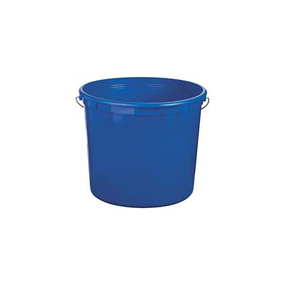 5 quart Leaktite blue plastic polysteel rim pail, available at Mallory Paint Store in WA & ID.