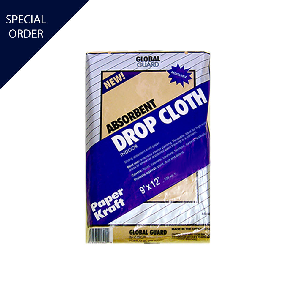 9'x12' Premier Kraft Paper Drop Cloth, available at Mallory Paint Store in WA & ID.