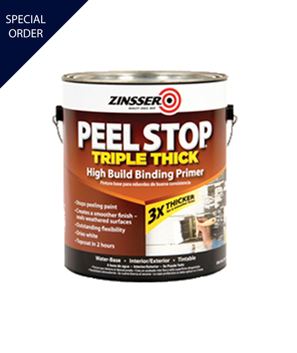 Gallon of Peel Stop Triple Thick Binding Primer, available at Mallory Paint Store in WA & ID.