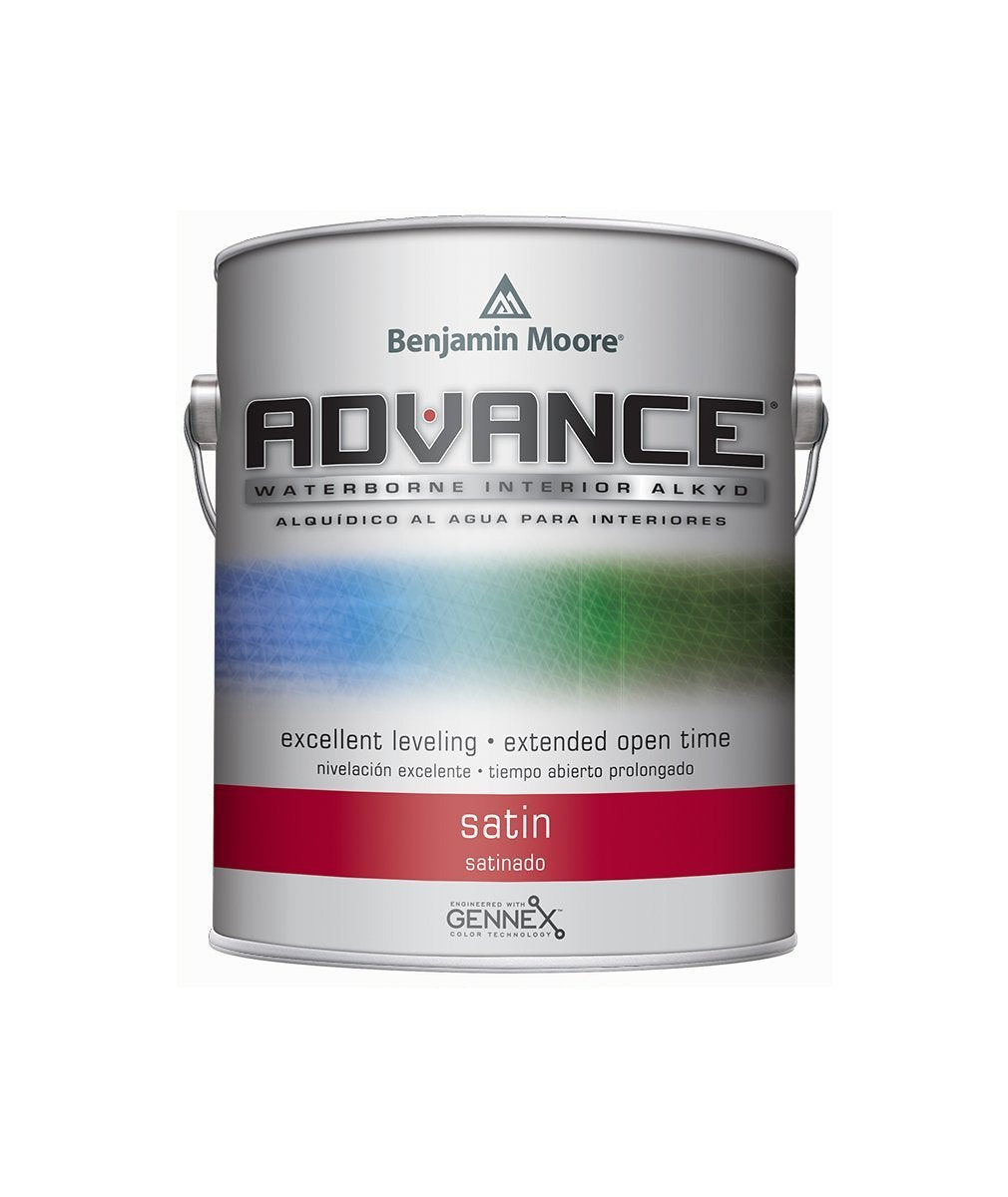 Benjamin Moore Advance Satin Paint available at Mallory Paint Stores.