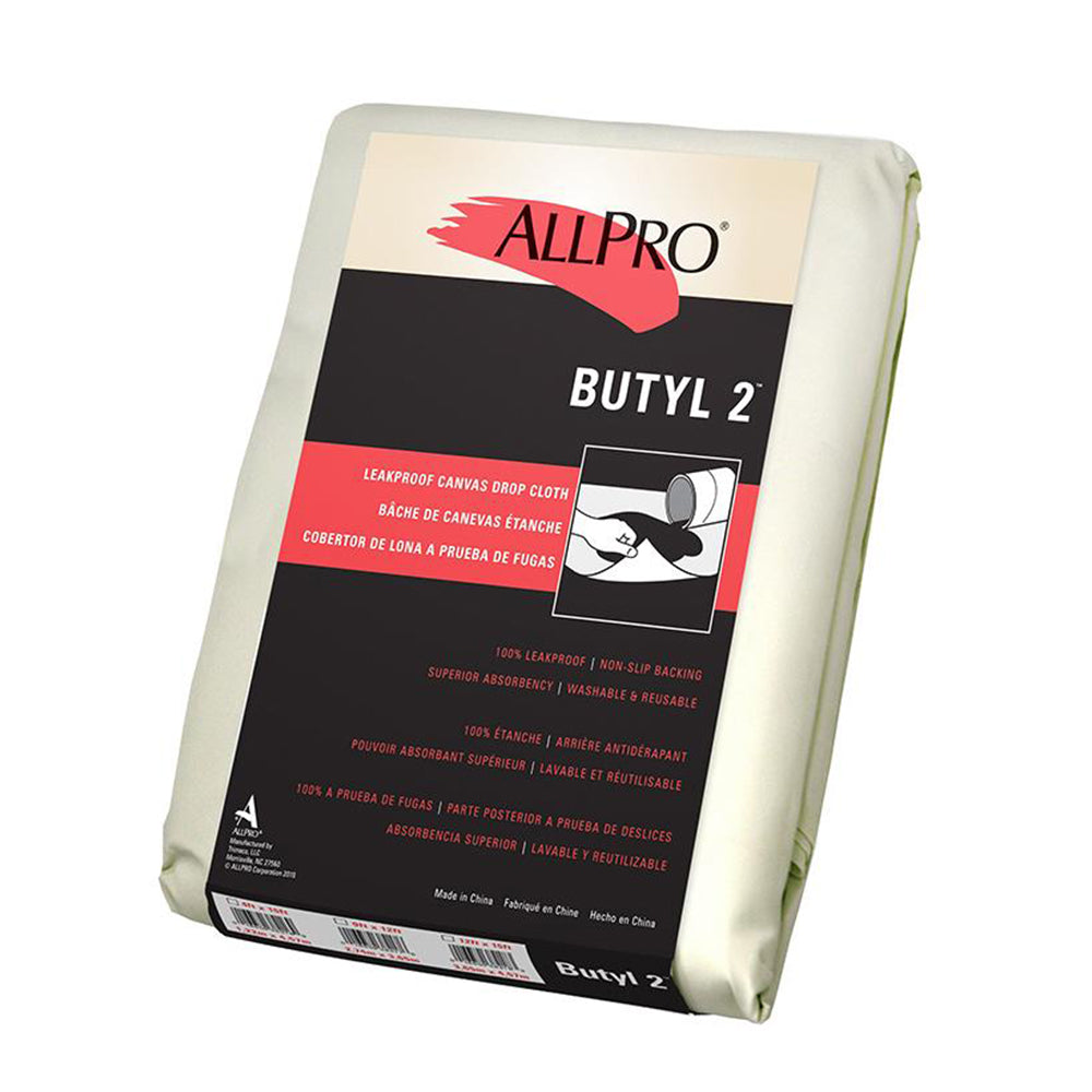 Butyl 2 canvas drop cloth, available at Mallory Paint Store in WA & ID.