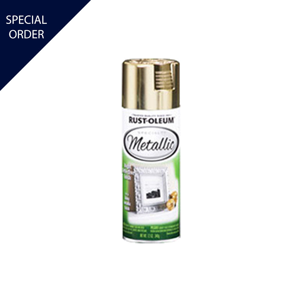12 oz Gold Specialty Metallic Spray Paint, available at Mallory Paint Store in WA & ID.