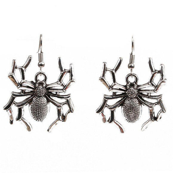 Spider Earrings for Halloween Sparkly Dangle Gothic Earring Fancy Dress Costume Women Novelty Jewellery Accessory