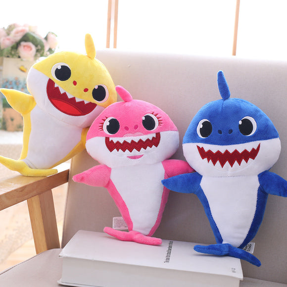Baby Shark Plush Dolls Stuffed Shark Luminous Musical Toys For Kids