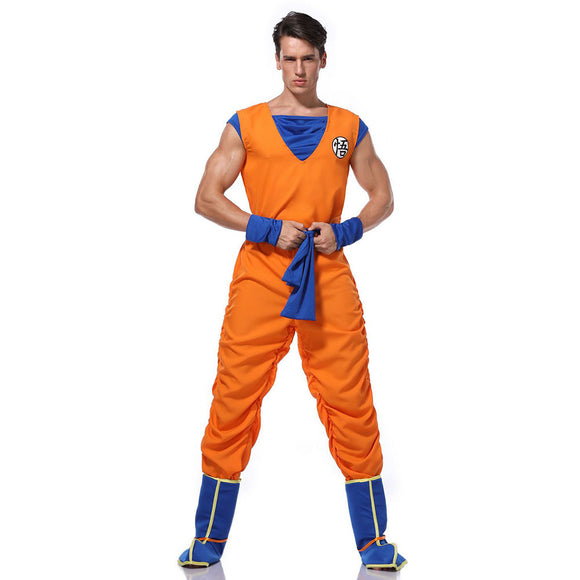 Adult Halloween Dragon Ball Costume Son Goku Suit Outfit Cosplay Costume Kung Fu Outfit