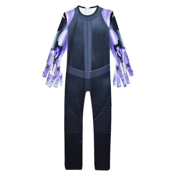 Kids Alita Battle Angel Cosplay Jumpsuit Halloween Carnival Costume Dress Up Outfit