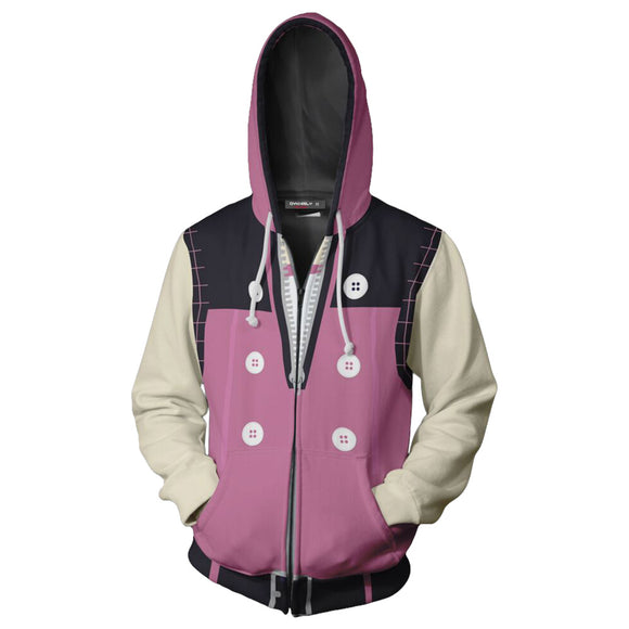 Unisex Kairi Hoodies Kingdom Hearts Zip Up 3D Print Jacket Sweatshirt