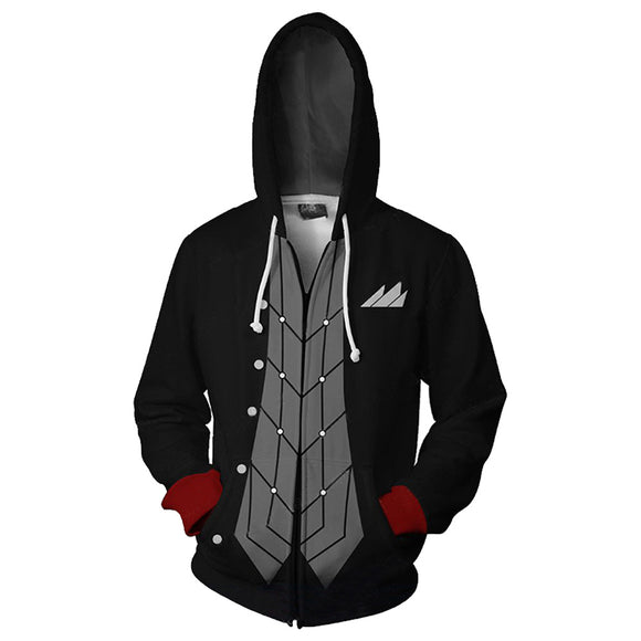 Unisex Akira Kurusu Joker Hoodies Game Persona Zip Up 3D Print Jacket Sweatshirt