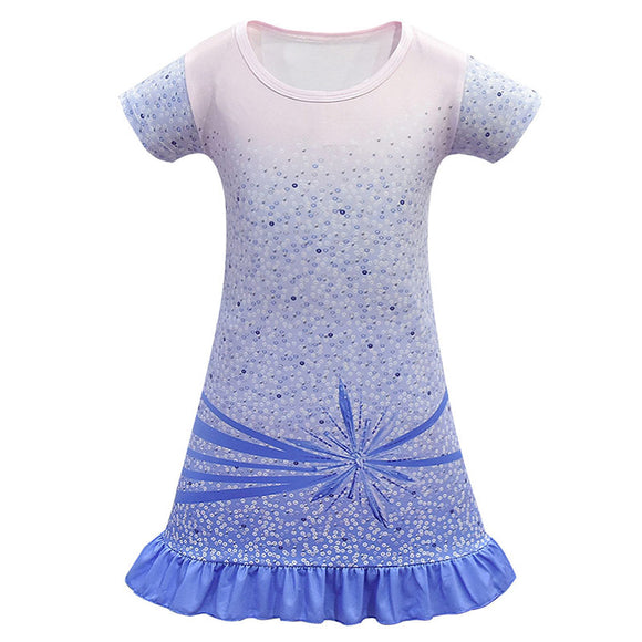 Kids Girls Frozen 2 Princess Elsa Dress Birthday Costume Carnival Princess Frock Child Cosplay Cloth