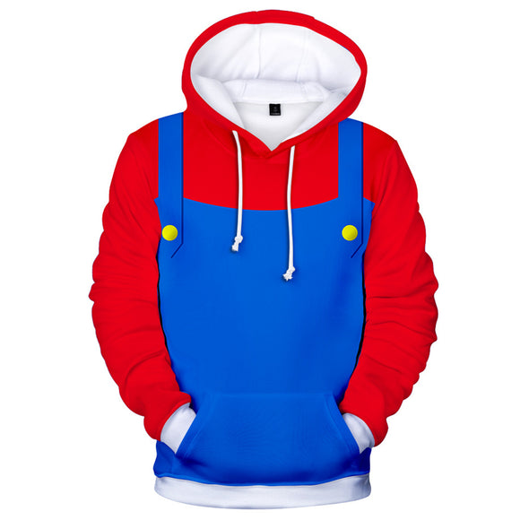 Super Mario Brothers Men's Red Costume Hoodie