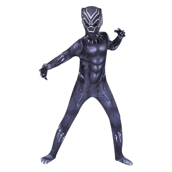 Kids Superhero Black Panther Muscle Cosplay Costumes The Avengers Cosplay Halloween Costumes