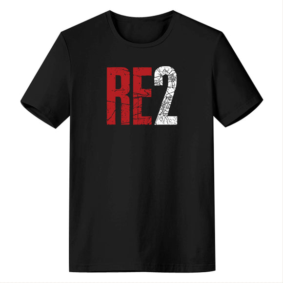 Resident Evil 2 RE2 Logo Men's Short Sleeve Shirts T Shirts Tees