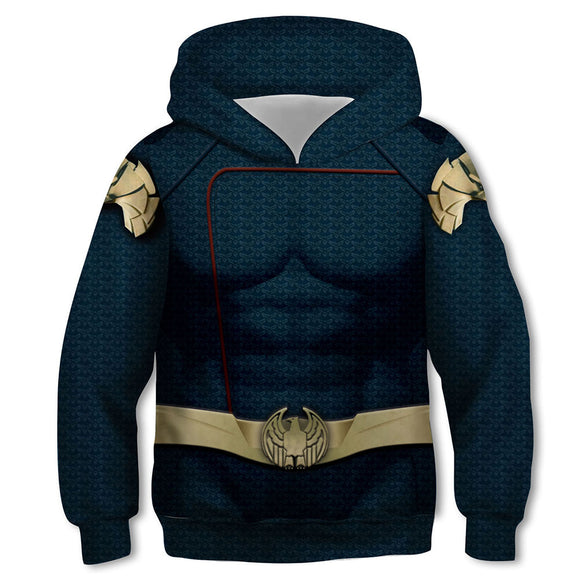 Kids Homelander Hoodies The Boys Pullover 3D Print Jacket Sweatshirt