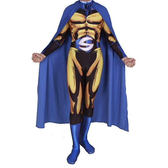 Adult Halloween Superhero Sentry Zentai Skin Tight Suits Carnival Fancy Dress Halloween Cosplay Party Costume