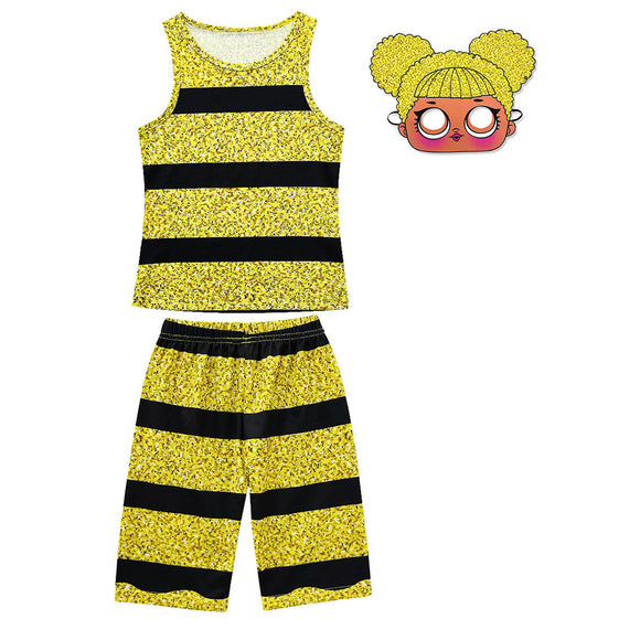 Girls L.O.L. Surprise Dolls Deluxe 2pcs Queen Bee Costume with Mask