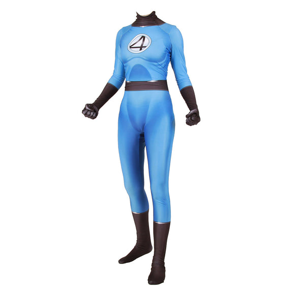 Fantastic Four Invisible Women Cosplay Costume Lycra Spandex Zentai Halloween Suits
