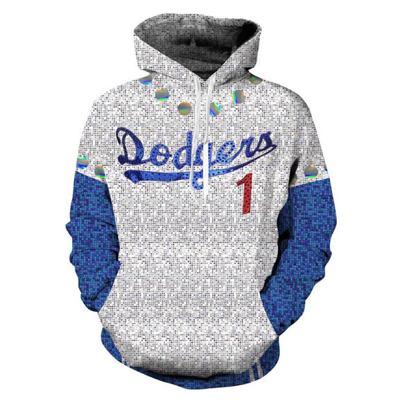 2019 Rocketman Elton John Dodgers Baseball Team Uniform Cosplay Costume Pullover Hoodie