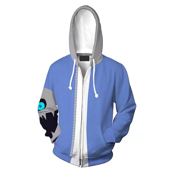 Unisex Sans Mii Fighter Hoodies Undertale Zip Up 3D Print Jacket Sweatshirt