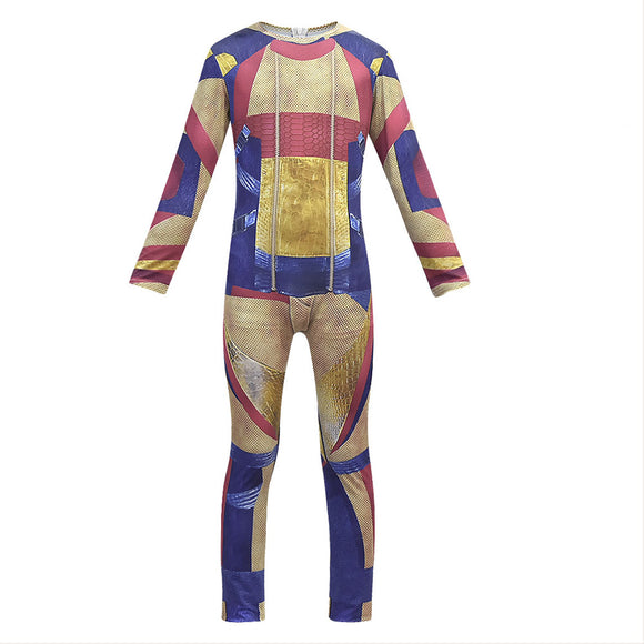 Kids Boys Descendants 3 Gil Cosplay Costume Jumpsuit Zentai Bodysuit Halloween Fancy Dress