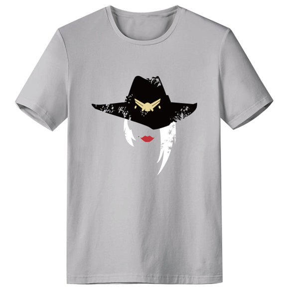Overwatch Ashe Cosplay T-Shirt Round Neck Short Sleeve Tees Tops