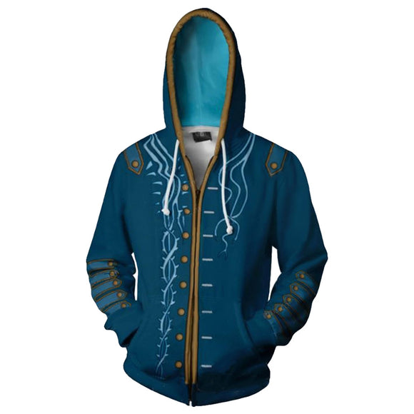 Devil May Cry 5 3D Print Hoodie Dante Ner-o Cosplay Costume Sports Thin Jacket